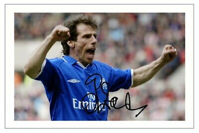 £1.89 • Buy GIANFRANCO ZOLA Signed Autograph PHOTO Fan Signature Gift Print CHELSEA Soccer