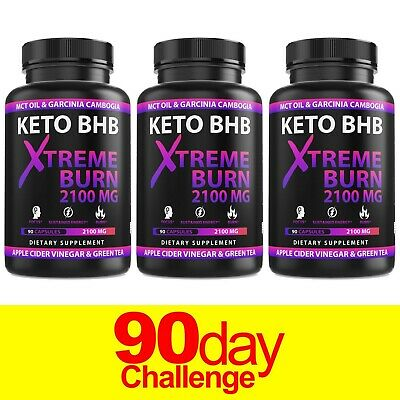 $39.99 • Buy Keto Diet Pills* Boost Energy* BHB  Advanced Weight Loss Burn Capsules*3-Bottles