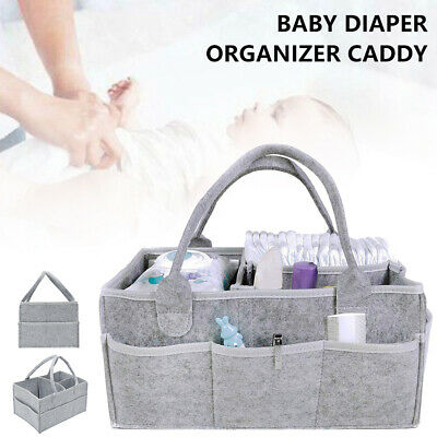 AU18.68 • Buy Diaper Storage Caddy Nappy Bin Infant Wipes Bag Basket Nursery Organizer Baby AU