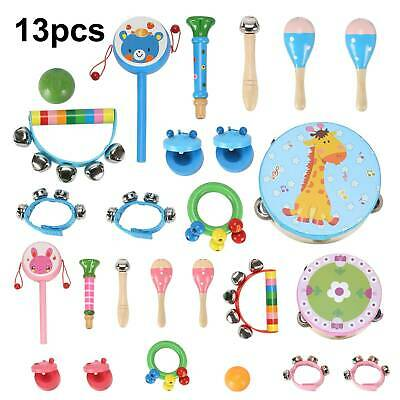 £13.49 • Buy 13 Pcs Set Wooden Kids Baby Musical Instruments Toys Child Toddlers Percussion