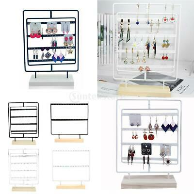Jewelry Display Holder Earring Stand Rack Jewelry Stand Display With Wooden Base • 12.72£
