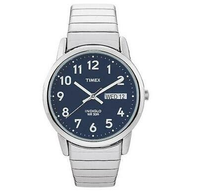 Timex Mens Watch Easy Reader Steel Expanding Bracelet Day Date T20031 • 44.95£