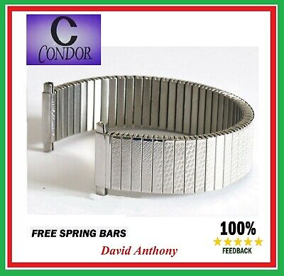 £9.95 • Buy ⭐THE BEST⭐ CONDOR 17mm - 22mm Expanding WATCH Bracelet STAINLESS STEEL Strap