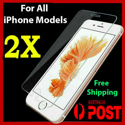AU3.99 • Buy 2x Tempered Glass Screen Protector IPhone 6S 8 Plus 7 11 PRO X XS MAX XR 4 SE 5s