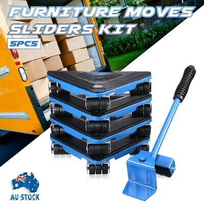 AU32.99 • Buy Moving Home Furniture Lifter& Mover 40 Wheels Moves Easy 4 Sliders Set Tool 5pcs
