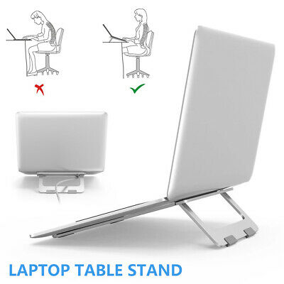 AU24.68 • Buy Laptop Stand Adjustable Notebook Table Portable Tray Foldable Computer Desk NEW