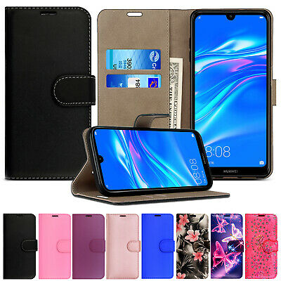 £2.49 • Buy Case For Huawei Y5 Y6S Y6 Y7 2019 Leather Flip Wallet Magnetic Stand Phone Cover