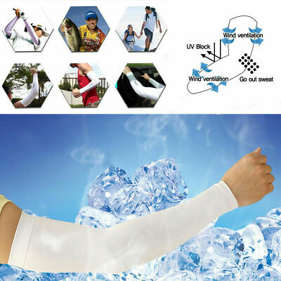 1/2 Pair Unisex Outdoor Sports Cooling Arm Sleeves Cover UV Sun Protection UK • 4.87£