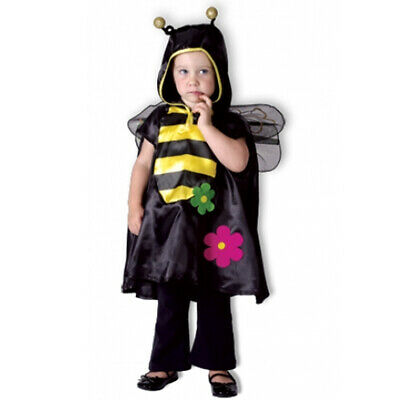 Toddlers Bumble Bee Costume 1-4 Yrs Boys Girls Cute Animal Fancy Dress NEW • 5.50£