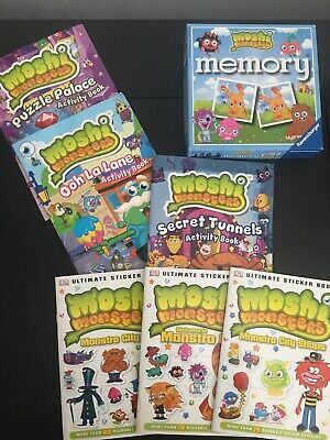 Moshi Monsters Bundle, Memory Game, Sticker Books And Puzzle Activity Books • 4£