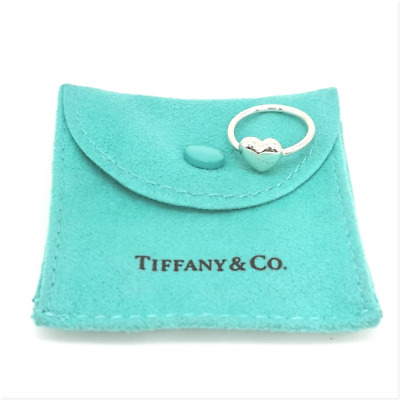 Authentic And Rare! Beautiful Silver  Tiffany & Co Puff  Heart Ring Size I 1/2 • 121.99£