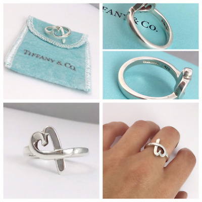 Authentic! Beautiful Tiffany & Co PALOMA PICASSO Loving Heart Ring Size K • 110.99£
