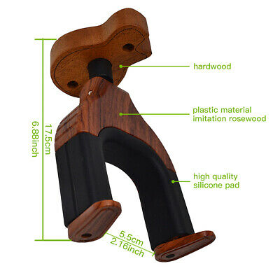$ CDN23.62 • Buy Wood Hanger Stand Holder Wall Mount Display For Acoustic Electric Guitar-S7