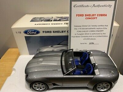 $ CDN199.99 • Buy 1/18 Autoart Ford Shelby Cobra Concept Limited 6000 Pieces Very Rare Diecast