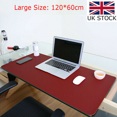 £19.18 • Buy Large PU Leather Office Desk Protector Mat Non Slip Mouse Laptop Pad 47x23.5in
