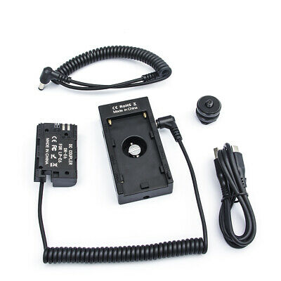 AU72.05 • Buy F01A Battery Plate+1/4'' Hot Shoe Screw+LP-E6 Fake Battery For Sony NP-F F970