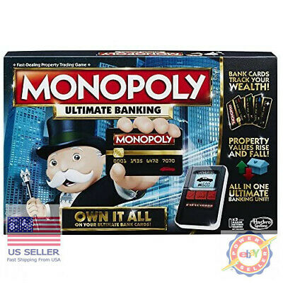 $80.44 • Buy Monopoly Game Ultimate Banking Edition Electronic Game Board New