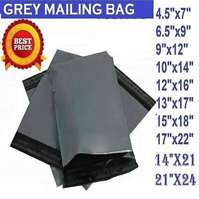 £2.95 • Buy Grey Strong Mailing Mixed Bags Plastic Postal Mail Postage Poly 10, 25, 50, 100