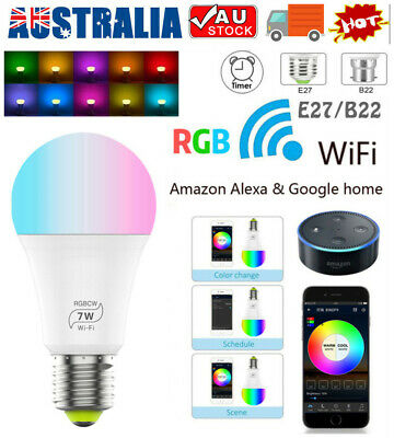 AU21.69 • Buy  B22 E27 WiFi Smart LED Light Bulb Globe For Alexa Google Home RGB Color Lamp AU