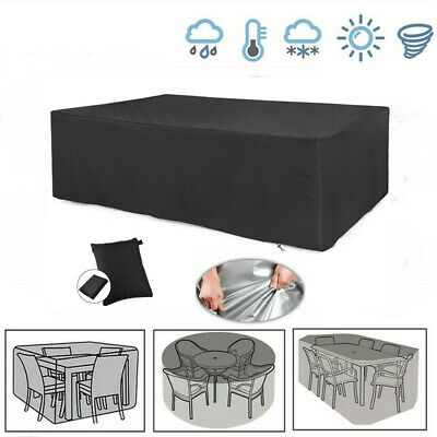 Heavy Duty Garden Patio Furniture Table Cover For Rattan Table Cube Set Outdoor • 9.99£