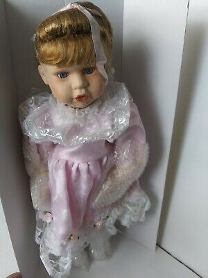 $ CDN19.72 • Buy  Porcelain Doll With Pink Lace Dress