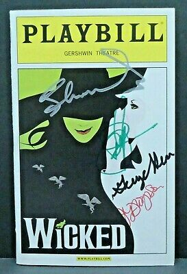 Wicked Cast Hand Signed Autographed Playbill • 86.91£