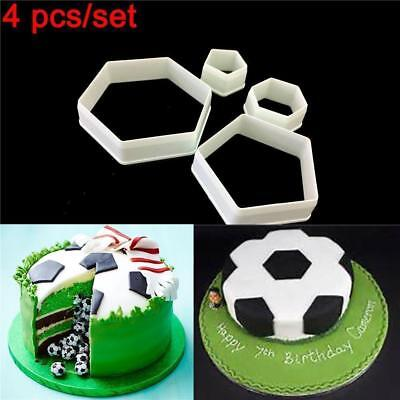 Hexagon Cookie Cutter Pentagon Football Tool Shape Biscuit Cupcake Topper S4 • 1.96£