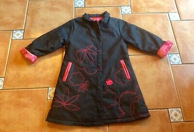 Mustsee Designer * Marese * Flower Embroidered Collared Coat * 8yr • 4£