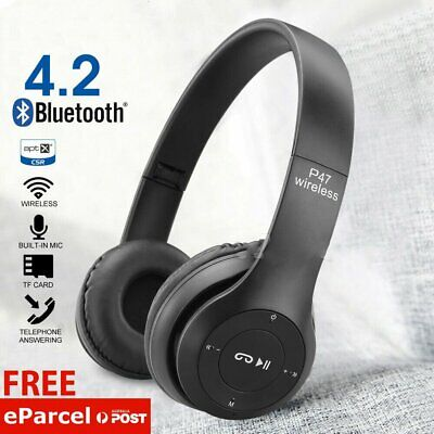 AU18.95 • Buy Noise Cancelling Wireless Headphones Bluetooth 4.2 Earphone Headset With Mic Hot