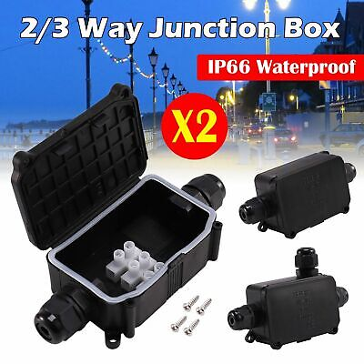 £5.29 • Buy Waterproof Junction Box Electrical Cable Connector Outdoor IP66 Underground