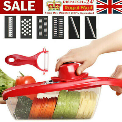11 In 1 Mandolin Vegetable Food Slicer Julienne And Container - Peel Cut Slice • 6.98£