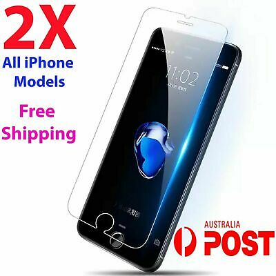 AU3.89 • Buy 2x Tempered Glass Screen Protector IPhone 7 6S 11 PRO Max XR X XS SE 7plus 8 4k