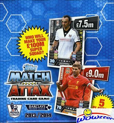 £51.15 • Buy 2013/14 Topps Match Attax Premier League Soccer BOX-50 Factory Sealed Packs !