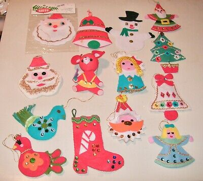 $ CDN63.10 • Buy Vintage Colorful Felt Christmas Ornaments - Made In Japan  - Lot Of 14