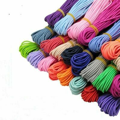 $ CDN9.80 • Buy 2mm Elastic Cord Stretch Eco-Friendly Elastic Bands Rope Round Bracelets Making