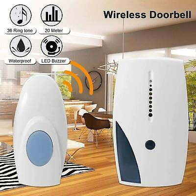Wireless Door Bell 70M Range 36 Chime Cordless Portable Digital Battery Operated • 6.19£