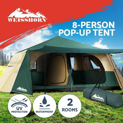 AU263.95 • Buy Weisshorn Instant Up Camping Tent 8 Person Pop Up Tents Family Hiking Dome Camp