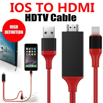 IOS To HDMI Cable Charger 1080P Display AV Adapter Connector For Macbook IPad TV • 6.19£