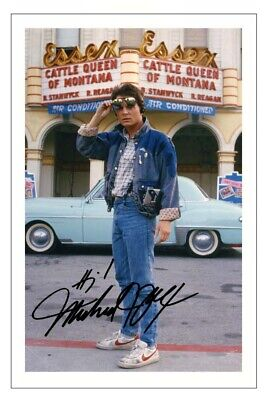 £1.89 • Buy MICHAEL J FOX Signed Autograph PHOTO Fan Gift Signature Print BACK TO THE FUTURE