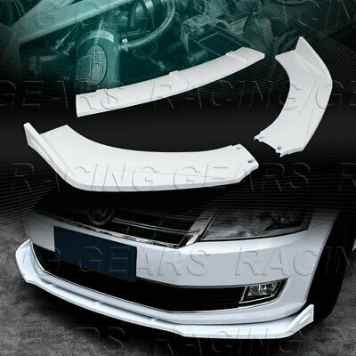 $46.95 • Buy Universal Painted White Front Bumper Lower Body Kit Splitter Spoiler Lip 3-pcs