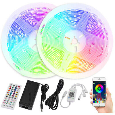 $11.99 • Buy 32FT 10M Flexible Strip Light 3528 RGB LED Remote Fairy Lights Room TV Party Bar