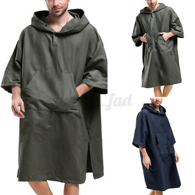 Surf Beach Bath Poncho Wetsuit Changing Robe With Hood Bathing Towel Hoodies UK • 12.99£