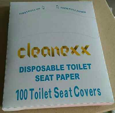 £5.50 • Buy 100 Disposable Toilet Seat Covers Flushable Hygienic