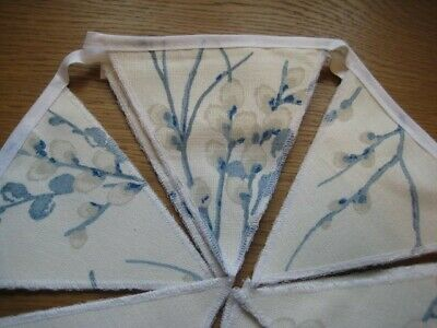 Laura Ashley Pussy Willow Off White Seaspray  Handmade Bunting 10  Flags • 19.95£