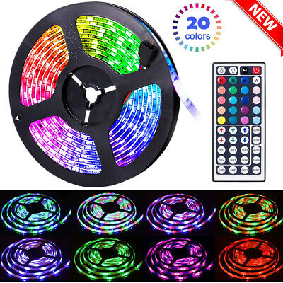 $21.99 • Buy 65.6FT Flexible Strip Light RGB LED SMD Remote Fairy Lights Room TV Party Bar