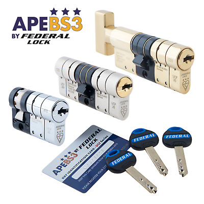 High Security Euro Cylinder 3* Star Double UPVC Front Door Lock Snap-Safe TS007 • 37.50£