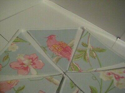 Summer Palace Duck Egg Blue Laura Ashley Handmade Bunting 10 Double Sided Flags • 19.95£