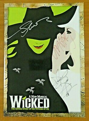 Wicked Musical Hand Signed Autographed Broadway Show Program • 66.85£