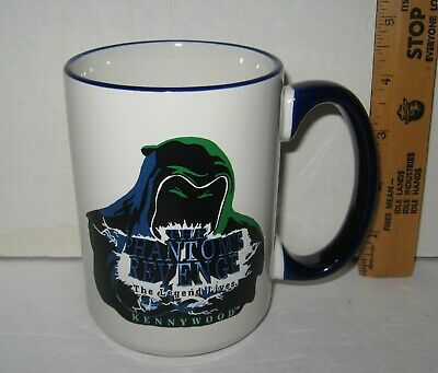 $9.99 • Buy Vtg PHANTOM'S REVENGE Kennywood Large China Mug Rollercoaster Ride M Ware