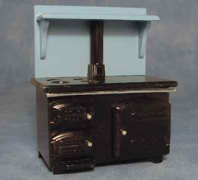 DOLLS HOUSE 1/12th SOLID FUEL WOODEN STOVE OR KITCHEN RANGE • 10.95£